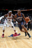 Charlotte Bobcats v Atlanta Hawks: Boris Diaw and Josh Smith Fotografisk tryk af Scott Cunningham
