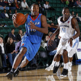Tulsa 66ers v Texas Legends: Elijah Millsap and Rece Hampton Photographic Print by Layne Murdoch