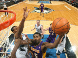 Los Angeles Lakers v Minnesota Timberwolves: Ron Artest Photographic Print by David Sherman