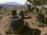 2000 Year Old Stone Jars in the Plain of Jars Photographic Print by Alison Wright