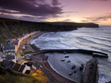 Pennan's Cottages and Boats on the Moray Firth at Twilight Photographic Print by Jim Richardson