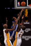 Golden State Warriors v Los Angeles Lakers: Monta Ellis, Derrick Caracter and Lamar Odom Photographic Print by Stephen Dunn