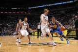 Golden State Warriors v San Antonio Spurs: Monta Ellis and Matt Bonner Photographic Print by D. Clarke Evans
