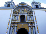The Facade and Bell Towers of Ocotlan's Dominican Monastery Church Photographic Print by Raul Touzon
