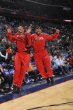 Atlanta Hawks v New Jersey Nets: Maurice Evans and Josh Smith Photographic Print by David Dow