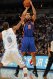 New York Knicks v Denver Nuggets: Landry Fields and Arron Afflalo Photographic Print by Doug Pensinger