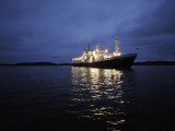 National Geographic Endeavor Anchored Off the Coast of Isle of Lewis Photographic Print by Jim Richardson