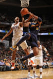 Denver Nuggets v Charlotte Bobcats: Dominic McGuire and Nene Photographic Print by Brock Williams Smith