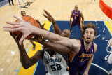 Los Angeles Lakers v Memphis Grizzlies: Pau Gasol and Zach Randolph Photographic Print by Joe Murphy