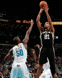 San Antonio Spurs v New Orleans Hornets: Tim Duncan and Emeka Okafor Photo by Chris Graythen