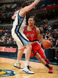 Portland Trail Blazers v Memphis Grizzlies: Brandon Roy and Marc Gasol Photographic Print by Joe Murphy