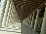The Restored Stoa of Attalos in the Athenian Agora Photographic Print by Richard Nowitz