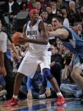 Minnesota Timberwolves v Dallas Mavericks: Brendan Haywood and Darko Milicic Photographic Print by Glenn James
