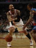 Orlando Magic v Chicago Bulls: Carlos Boozer and Rashard Lewis Photographic Print by Jonathan Daniel