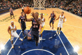 Atlanta Hawks v Indiana Pacers: Marvin Williams and T. J. Ford Photographic Print by Ron Hoskins