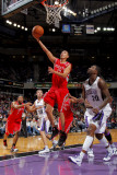 Houston Rockets v Sacramento Kings: Kevin Martin and Donte Greene Photographic Print by Rocky Widner