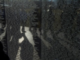 Shadows Reflected on the Wall of the Vietnam  Memorial Photographic Print by Todd Gipstein