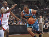 New Orleans Hornets v Detroit Pistons: Chris Paul and Ben Gordon Photographic Print by Allen Einstein