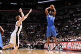 Orlando Magic v San Antonio Spurs: Rashard Lewis and Matt Bonner Photographic Print by D. Clarke Evans