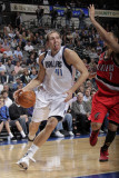 Portland Trail Blazers v Dallas Mavericks: Dirk Nowitzki and Brandon Roy Photographic Print by Glenn James