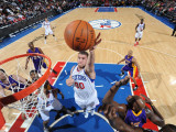 Los Angeles Lakers v Philadelphia 76ers: Spencer Hawes Photographic Print by Jesse D. Garrabrant