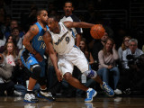 Orlando Magic v Washington Wizards: Gilbert Arenas and Jameer Nelson Photographic Print by Ned Dishman