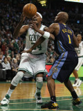 Denver Nuggets v Boston Celtics: Paul Pierce and Chauncey Billups Photographic Print by  Elsa