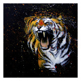 Roaring Tiger Giclee Print