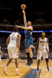 Minnesota Timberwolves v Charlotte Bobcats: Kevin Love and Boris Diaw Photographic Print by Brock Williams Smith