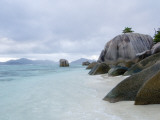 Boulders at Anse-Source D&#39;Argent Beach Photographic Print by Alison Wright