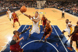 Cleveland Cavaliers  v Indiana Pacers: Brandon Rush and Ramon Sessions Photographic Print by Ron Hoskins