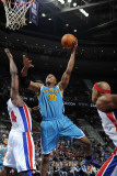 New Orleans Hornets v Detroit Pistons: David West and Jason Maxiell Fotografie-Druck von Allen Einstein