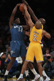 Washington Wizards v Los Angeles Lakers: Al Thornton and Derek Fisher Photographic Print by  Jeff