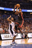 Miami Heat v Orlando Magic: Chris Bosh Photographic Print by Mike Ehrmann