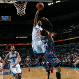 Charlotte Bobcats v New Orleans Hornets: Trevor Ariza and D.J. Augustin Photographic Print by Layne Murdoch