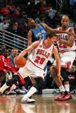 Minnesota Timberwolves v Chicago Bulls: Kyle Korver, Corey Brewer and Taj Gibson Photographic Print by Ray Amati