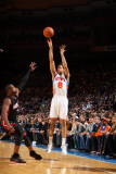 Miami Heat v New York Knicks: Landry Fields and Dwyane Wade Photographic Print by Nathaniel S. Butler