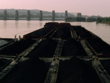 Men on a Coal Barge on the Ohio River Photographic Print by Jodi Cobb