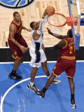 Cleveland Cavaliers  v Orlando Magic: Dwight Howard and J.J. Hickson Photographic Print by Fernando Medina