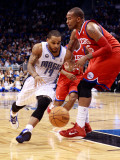 Philadelphia 76ers v Orlando Magic: Jameer Nelson and Marreese Speights Photographic Print by Sam Greenwood
