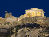 Propylaea (Left) and Temple of Athena Nike on the Acropolis at Night Photographic Print by Richard Nowitz