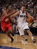 Houston Rockets v Dallas Mavericks: Jose Juan Barea and Ishmael Smith Photographic Print by Danny Bollinger