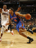 New York Knicks v Charlotte Bobcats: Landry Fields and Derrick Brown Photographic Print by Kent Smith