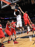 Portland Trail Blazers v San Antonio Spurs: DeJuan Blair, Brandon Roy, Joel Przybilla and LaMarcus  Fotografisk tryk af D. Clarke Evans