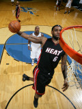 Miami Heat v Washington Wizards: LeBron James and Andray Blatche Photographic Print by Ned Dishman