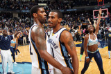 Los Angeles Lakers v Memphis Grizzlies: O.J. Mayo and Mike Conley Photographic Print by Joe Murphy