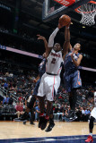 Charlotte Bobcats v Atlanta Hawks: Joe Johnson and Shaun Livingston Photographic Print by Scott Cunningham