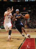 Denver Nuggets v Toronto Raptors: Al Harrington and Linas Kleiza Photographic Print by Ron Turenne