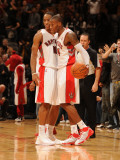 Houston Rockets v Toronto Raptors: Sonny Weems and DeMar DeRozan Photographic Print by Ron Turenne