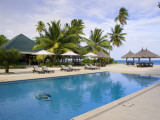 A Pool at a Desroches Island Resort Hotel Photographic Print by Alison Wright